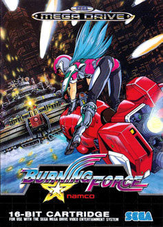 Carátula del juego Burning Force (Genesis)
