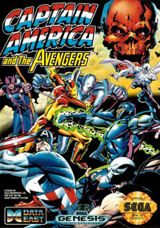 Carátula del juego Captain America and The Avengers (Genesis)