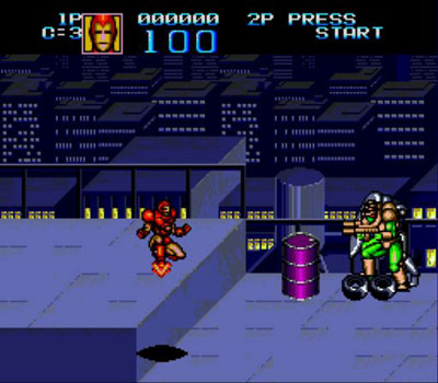Pantallazo del juego online Captain America and The Avengers (Genesis)