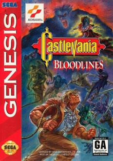 Portada de la descarga de Castlevania – Bloodlines