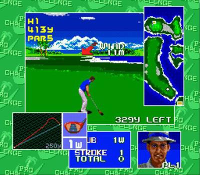 Pantallazo del juego online Chi Chi's Pro Challenge Golf (Genesis)