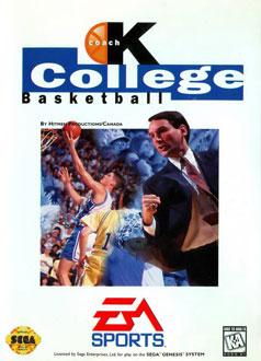 Carátula del juego Coach K College Basketball (Genesis)