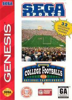 Carátula del juego College Football's National Championship (Genesis)