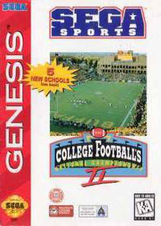 Carátula del juego College Football's National Championship II (Genesis)