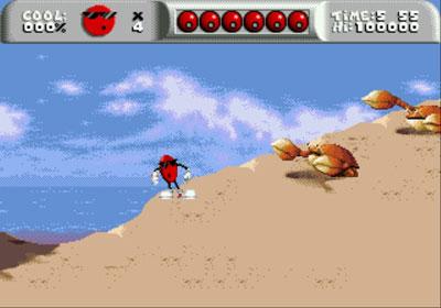 Pantallazo del juego online Cool Spot (Genesis)