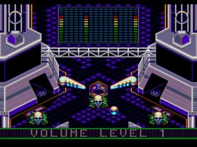Pantallazo del juego online Crue Ball Heavy Metal Pinball (Genesis)
