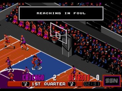 Pantallazo del juego online David Robinson's Supreme Court (Genesis)