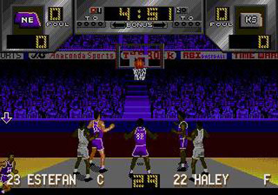 Pantallazo del juego online Dick Vitale's Awesome Baby College Hoops (Genesis)