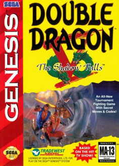 Carátula del juego Double Dragon V - The Shadow Falls (Genesis)