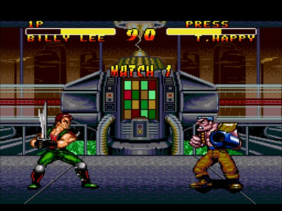 Pantallazo del juego online Double Dragon V - The Shadow Falls (Genesis)