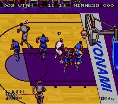 Pantallazo del juego online Double Dribble - The Playoff Edition (Genesis)
