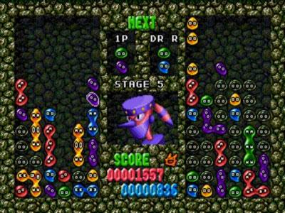 Pantallazo del juego online Dr Robotnik's Mean Bean Machine (Genesis)