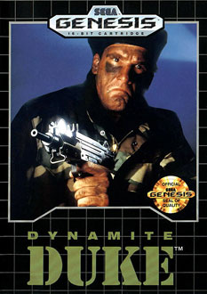 Carátula del juego Dynamite Duke (Genesis)