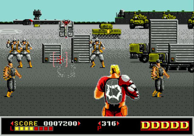 Pantallazo del juego online Dynamite Duke (Genesis)