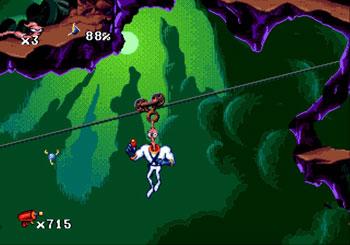 Pantallazo del juego online Earthworm Jim (Genesis)