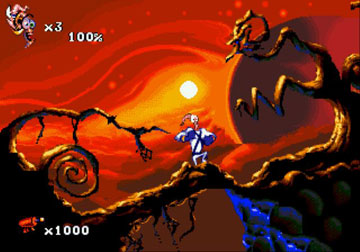 Pantallazo del juego online Earthworm Jim 2