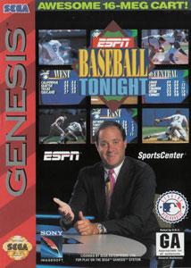 Carátula del juego ESPN Baseball Tonight (Genesis)