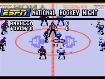 Pantallazo del juego online ESPN National Hockey Night (Genesis)
