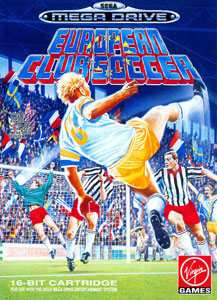 Carátula del juego European Club Soccer (Genesis)