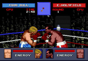 Pantallazo del juego online Evander Holyfield's Real Deal Boxing (Genesis)