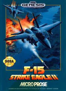 Carátula del juego F-15 Strike Eagle II (Genesis)