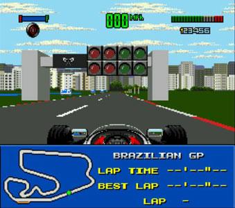 Pantallazo del juego online F1 World Championship Edition (Genesis)