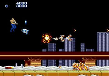 Pantallazo del juego online Forgotten Worlds (Genesis)