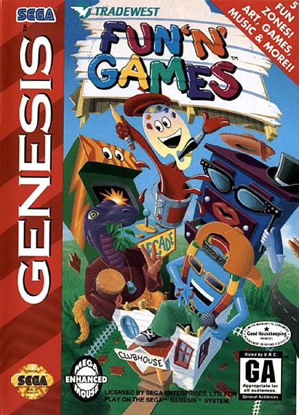 Carátula del juego Fun 'N' Games (Genesis)