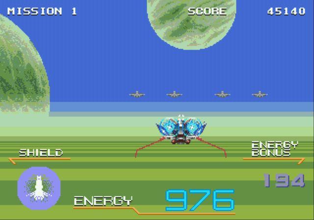 Pantallazo del juego online Galaxy Force II (Genesis)