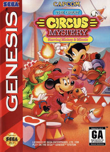 Carátula del juego The Great Circus Mystery Starring Mickey & Minnie (Genesis)