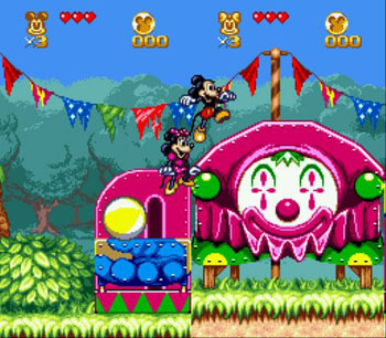 Pantallazo del juego online The Great Circus Mystery Starring Mickey & Minnie (Genesis)