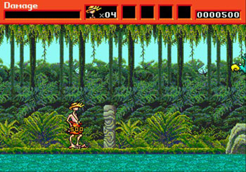 Pantallazo del juego online Greendog The Beached Surfer Dude (Genesis)
