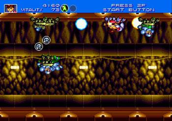 Pantallazo del juego online Gunstar Heroes (Genesis)