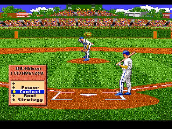Pantallazo del juego online HardBall '94 (Genesis)