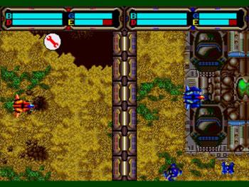 Pantallazo del juego online Herzog Zwei (Genesis)