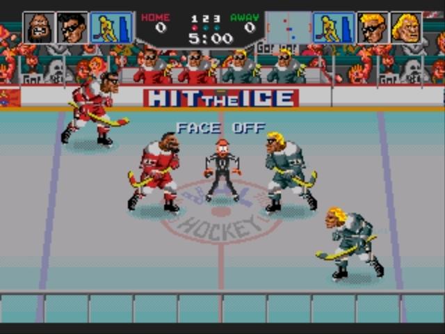 Pantallazo del juego online Hit the Ice (Genesis)