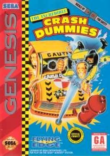 Carátula del juego The Incredible Crash Dummies (Genesis)