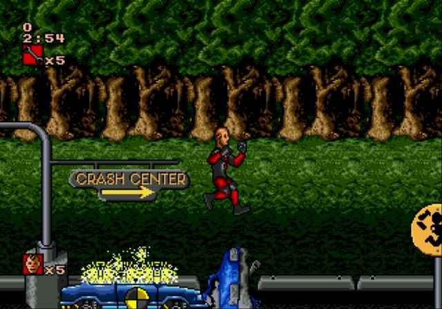 Pantallazo del juego online The Incredible Crash Dummies (Genesis)