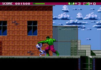 Pantallazo del juego online The Incredible Hulk (Genesis)