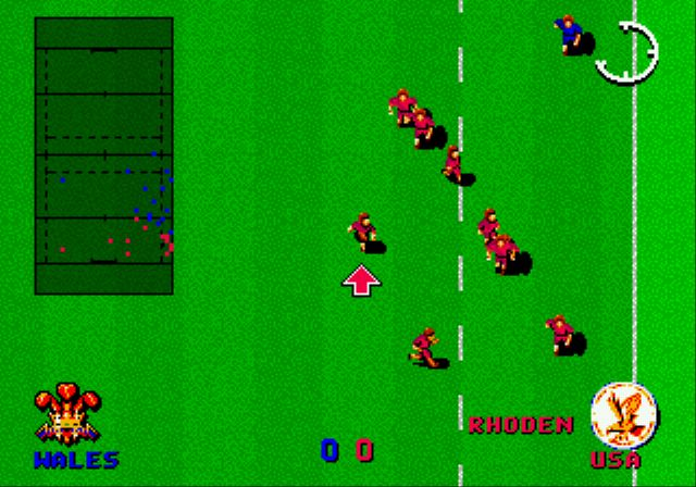 Pantallazo del juego online International Rugby (Genesis)