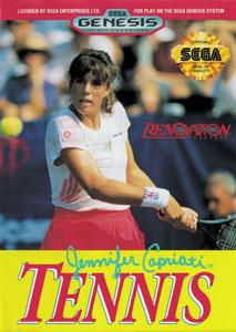 Carátula del juego Jennifer Capriati Tennis (Genesis)