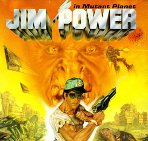 Portada de la descarga de Jim Power: The Arcade Game