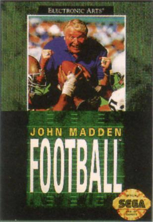 Carátula del juego John Madden Football (Genesis)