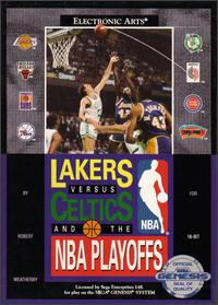 Carátula del juego Lakers versus Celtics and the NBA Playoffs (Genesis)
