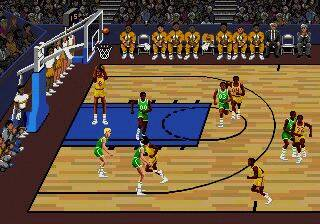 Pantallazo del juego online Lakers versus Celtics and the NBA Playoffs (Genesis)