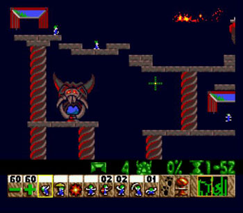 Pantallazo del juego online Lemmings (Genesis)