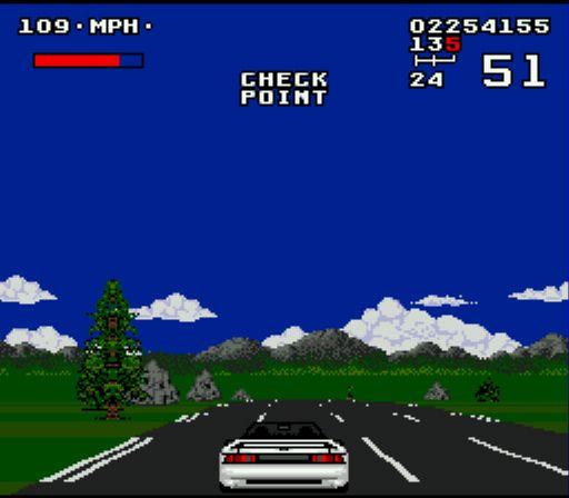 Pantallazo del juego online Lotus Turbo Challenge (Genesis)