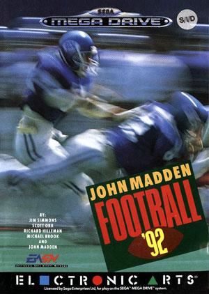 Carátula del juego John Madden Football '92 (Genesis)