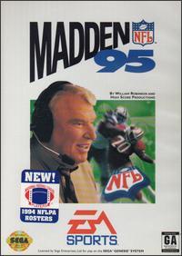 Carátula del juego Madden NFL 95 (Genesis)