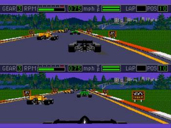 Pantallazo del juego online Mario Andretti Racing (Genesis)